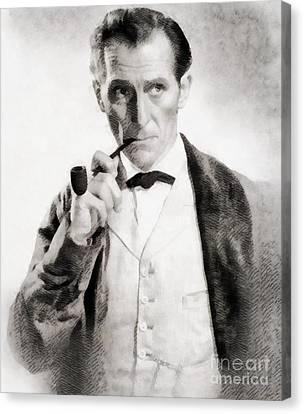 Peter Cushing As Sherlock Holmes Canvas Print by John Springfield