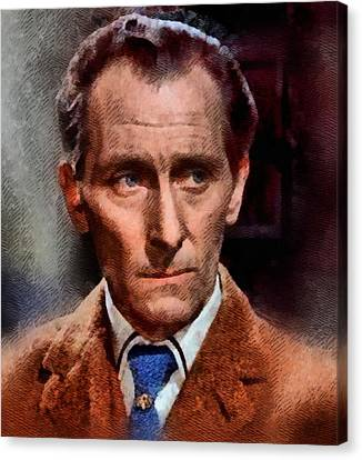 Peter Cushing, Vintage Actor Canvas Print by John Springfield