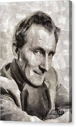 Peter Cushing, Vintage Actor Canvas Print by Mary Bassett