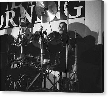 Peter Erskine Steps In The Morning Canvas Print by Philippe Taka