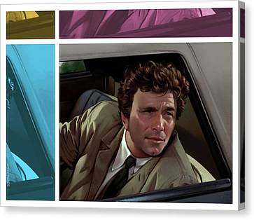 Peter Falk 1973  Canvas Print by Udo Linke