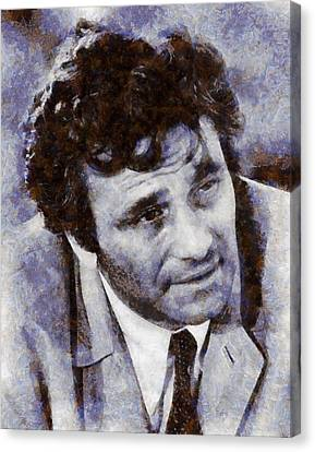 Peter Falk Columbo Canvas Print by Esoterica Art Agency