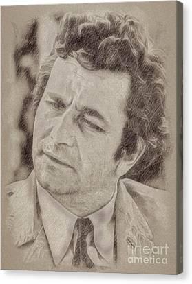 Noir Canvas Print - Peter Falk, Columbo by Frank Falcon