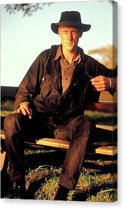 Peter Garrett, Lead Singer Of Midnight Oil, Sydney Harbour, 1989 Canvas Print by Sean Davey