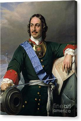 Moustache Canvas Print - Peter I The Great by Delaroche