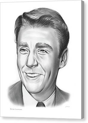 Peter Lawford Canvas Print by Greg Joens