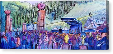 Canvas Print featuring the painting Peter Rowen At Copper Mountain by David Sockrider