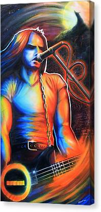 Peter Steele Canvas Print by Cobb Family Art