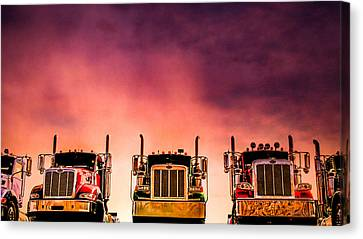 Canvas Print featuring the photograph Peterbilt  Landscape by Bob Orsillo