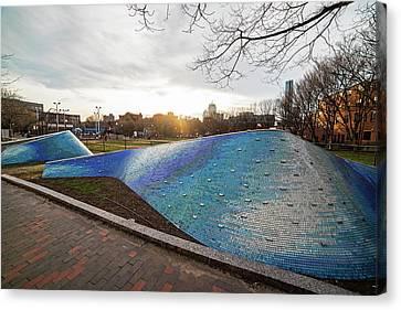 Peters Park South End Boston Landwave Mosaic Boston Ma Canvas Print by Toby McGuire