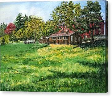 Peterson's Sugar House, Londonderry, Nh Canvas Print by Elaine Farmer