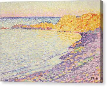 Petit Plage, Saint Tropez Canvas Print by Theo van Rysselberghe