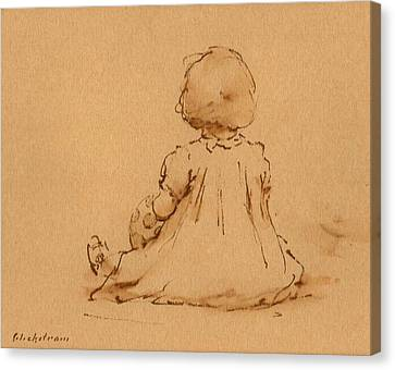Petite Fille Canvas Print by Thor Wickstrom