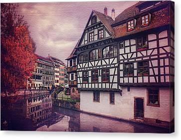Medieval Canvas Print - Petite France In Strasbourg  by Carol Japp