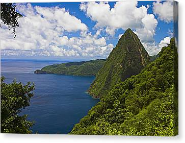 Petite Piton From Gros Piton-st Lucia Canvas Print