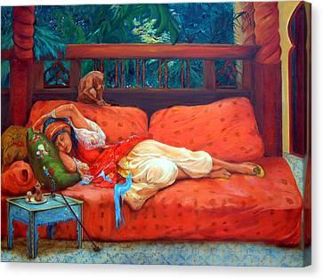 Petite Somme After A. Bridgman Canvas Print by Enzie Shahmiri