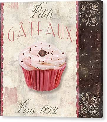 Bakery Canvas Print - Petits Gateaux by Mindy Sommers