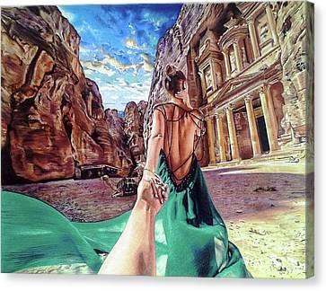 Petra - Follow Me To Drawing Canvas Print