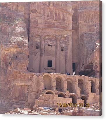 Petra Canvas Print - Petra, Jordan Rock Formations by Sherry Leonard