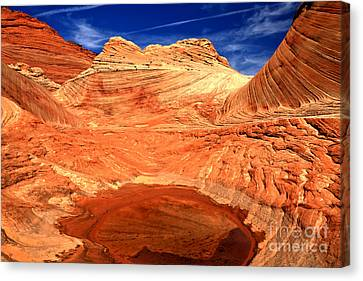 Petrified Sand Dune Reflections Canvas Print