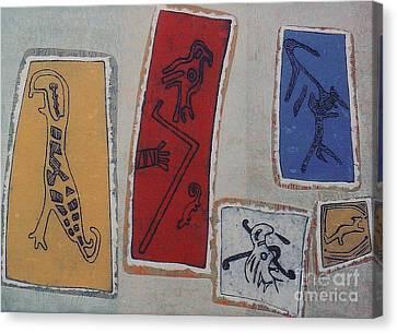 Petroglifos  I I Canvas Print