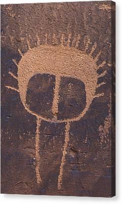Petroglyph Closeup Canvas Print by Rich Reid