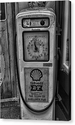 Petrol Pump Canvas Print by Martin Newman