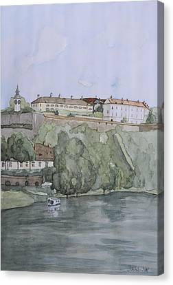 Petrovaradin Fortress Canvas Print by Desimir Rodic