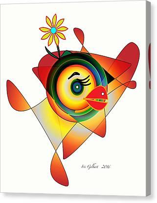 Petunia Parrot Canvas Print by Iris Gelbart