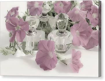 Petunias And Perfume - Soft Canvas Print