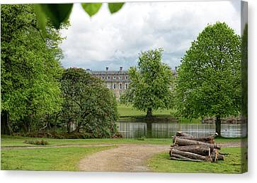 Petworth House On Lake Canvas Print by Michael Hope