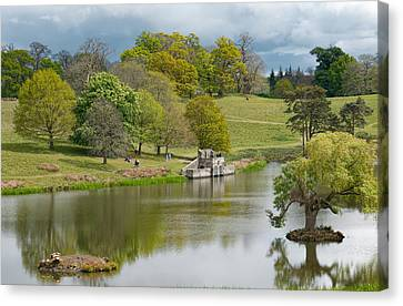 Petworth Lake In April Canvas Print by Michael Hope