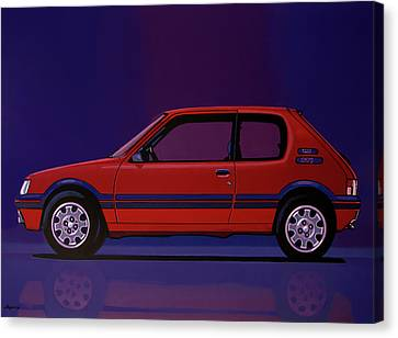 Peugeot 205 Gti 1984 Painting Canvas Print by Paul Meijering