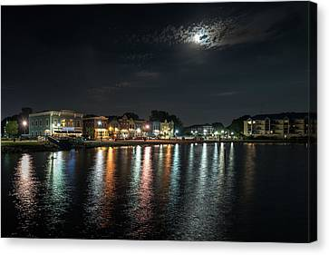 Pewaukee At Night Canvas Print
