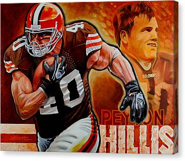Razorbacks Canvas Print - Peyton Hillis by Jim Wetherington