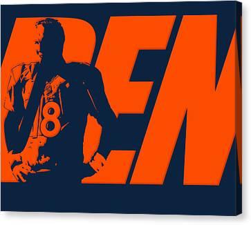 Peyton Manning City Name Canvas Print