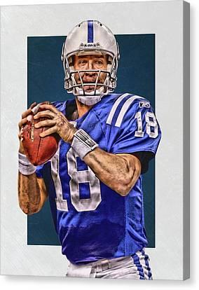 Peyton Manning Indianapolis Colts Art Canvas Print