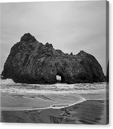 Pfeiffer Beach II Bw Canvas Print