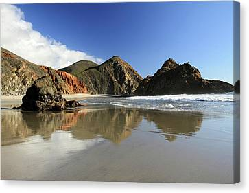 Pfeiffer Beach Reflection Canvas Print by Pierre Leclerc Photography