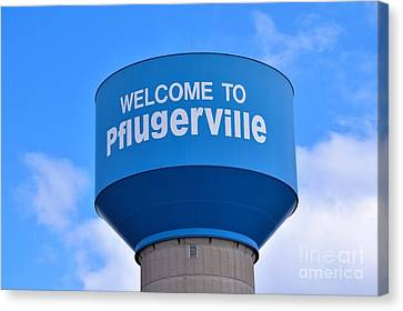 Pflugerville Texas - Water Tower Canvas Print