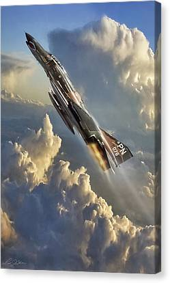 Fighter Canvas Print - Phantom Cloud Break by Peter Chilelli