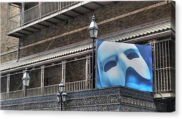 Phantom Of The Opera - Broadway Canvas Print by Timothy Lowry
