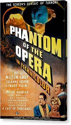 Phantom Of The Opera, Claude Rains Canvas Print by Everett