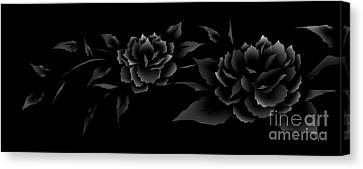 Phantom Peonies Canvas Print