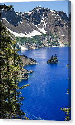 Phantom Ship On Crater Lake Canvas Print by Daniel Cummins