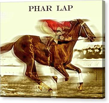 Bobby Cox Canvas Print - Phar Lap, Aka Wonder Horse, Red Terror, Bobby, Sky Flash, Lightning And Big Red by Thomas Pollart