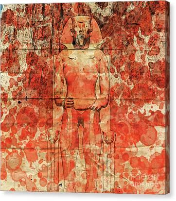 Pharaoh By Raphael Terra And Mary Bassett Canvas Print