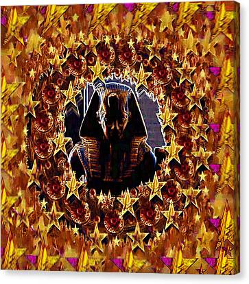 Pharaoh In The Starry Night Canvas Print by Pepita Selles