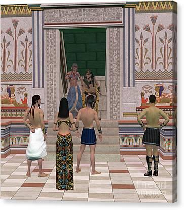 Pharaoh Canvas Print - Pharaoh Throne Hall by Corey Ford