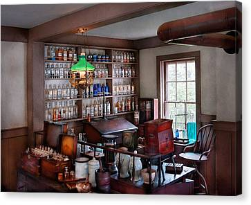 Pharmacist - Pharmacist From The 1880's  Canvas Print by Mike Savad